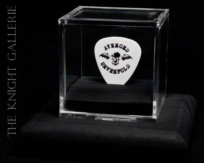 Commemorative guitar pick and display case: Avenged Sevenfold