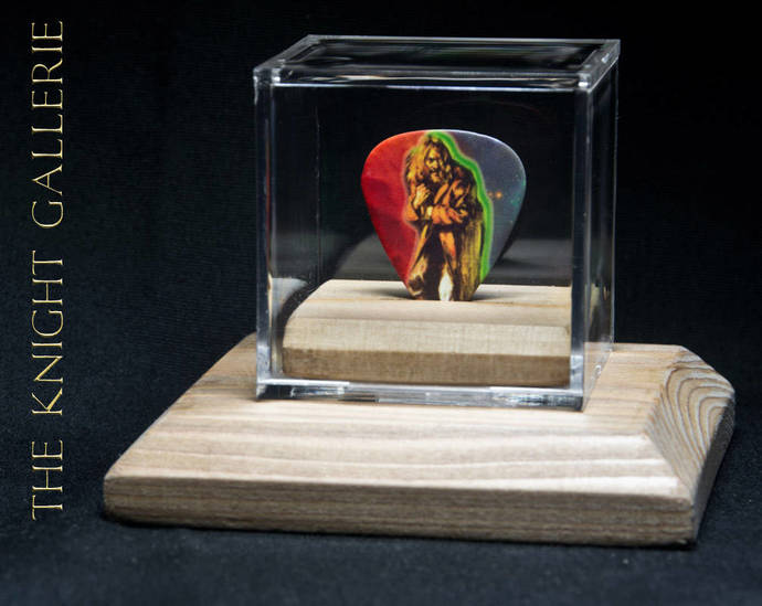 Commemorative guitar pick and display case:  JETHRO TULL
