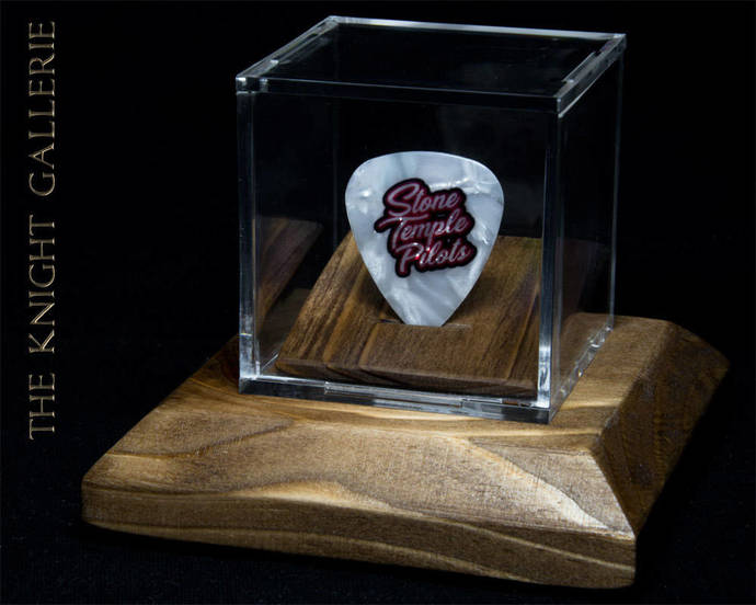 Commemorative guitar pick and display case: Stone Temple Pilots