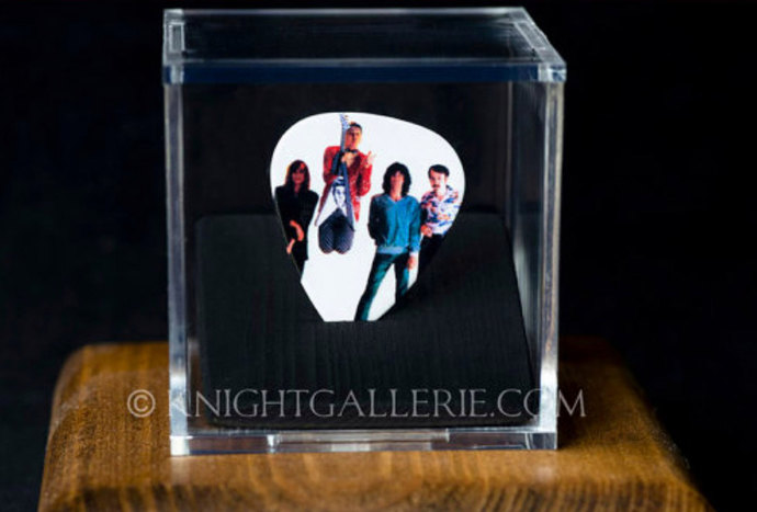 CHEAP TRICK: commemorative guitar pick and display case