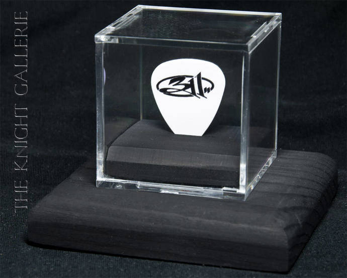 311: commemorative guitar pick and display case