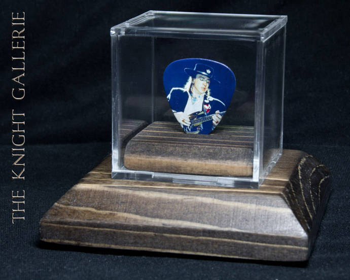 Commemorative guitar pick and display case: Stevie Ray