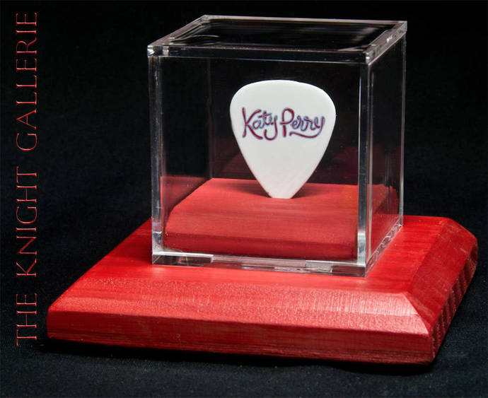 KATY PERRY: authentic guitar pick and display case