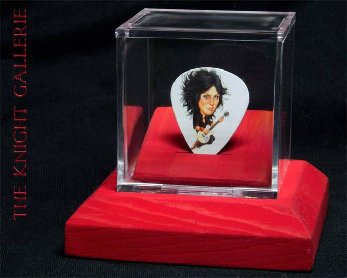 Joan Jett: commemorative guitar pick and display case