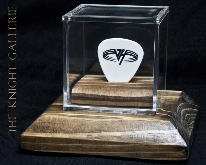 Sammy Hagar / Van Halen: authentic guitar pick and display case