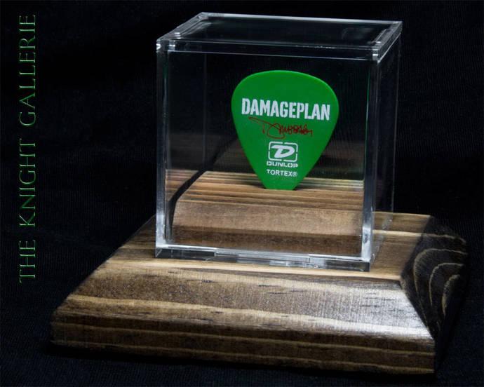 Damageplan guitar pick and display case