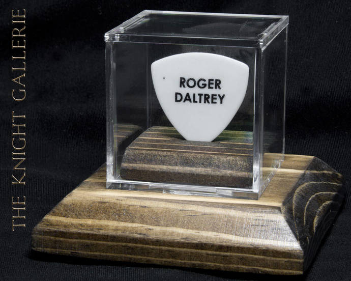 ROGER DALTREY: authentic guitar pick and display case