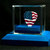 American Flag guitar pick and display case