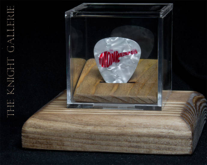The MONKEES: commemorative guitar pick and display case
