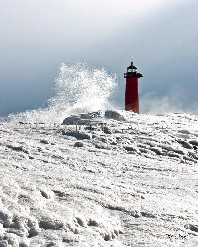 Kenosha Wisconsin: Winter Lighthouse Portrait