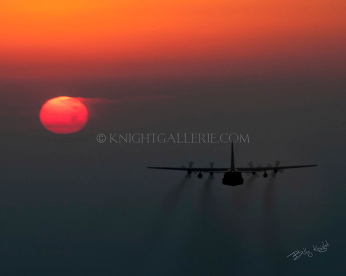 Aviation Photograph: Tactical C-130 Into The Night
