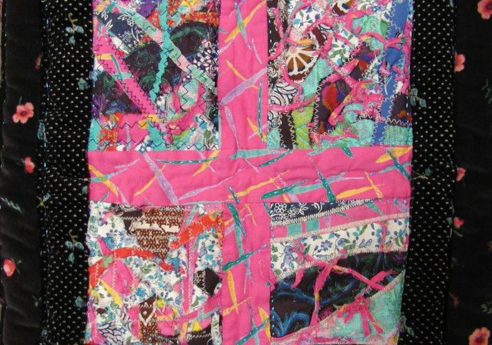 """Quilter's Obsession, a medallion art quilt 60""""x60"""""""