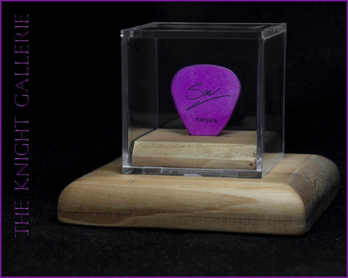 Rick Savage / Def Leppard guitar pick and display case
