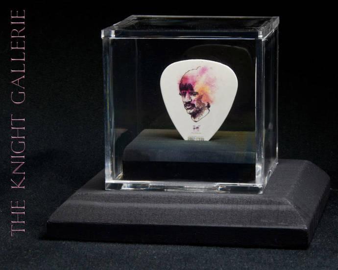 RINGO STARR: commemorative guitar pick and display case