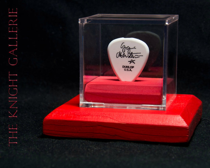 YNGWE MALMSTEEN: authentic guitar pick and display case