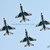 ACTION PHOTOGRAPH: USAF Thunderbirds Diamond Formation