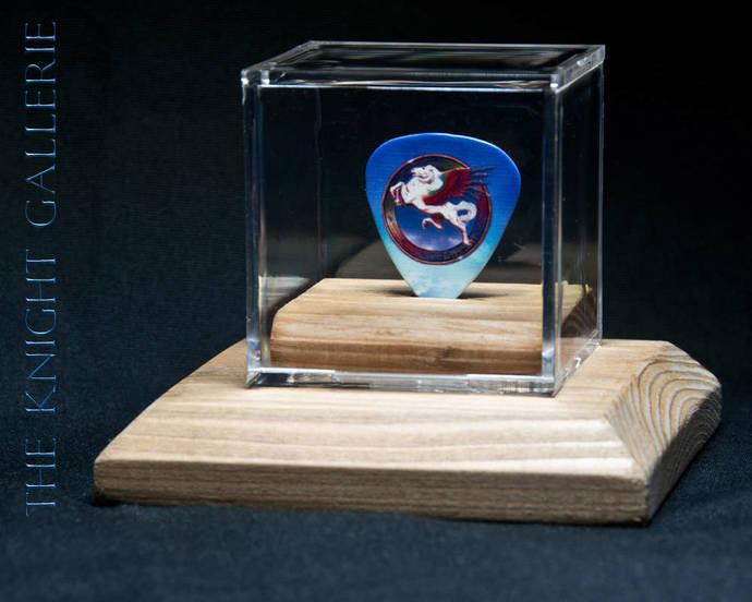 STEVE MILLER BAND: commemorative guitar pick and display case