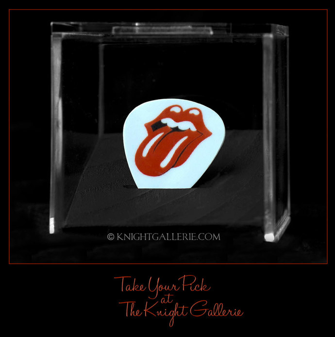 Commemorative Guitar Pick in a display case: The Stones