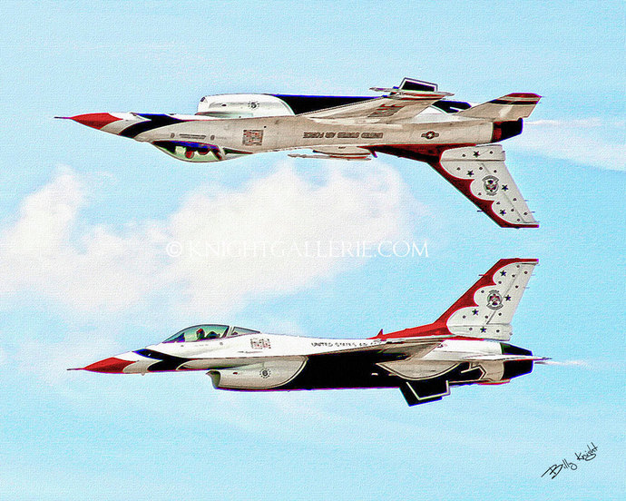 Aviation Portrait: USAF Thunderbirds Reflection Pass
