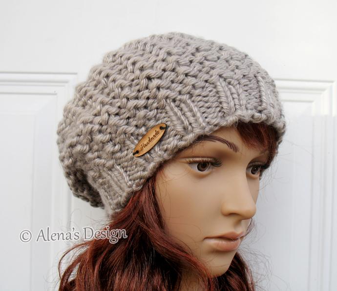 Knitting Pattern 059 - Knitting Hat Pattern - Hat Knitting Pattern for Slouchy
