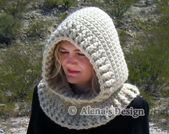 09f10330ace Crochet Pattern 113 - Crochet Cowl Pattern - Hooded Cowl Crochet Pattern - Crochet  Hood Pattern -Toddler Child Teen Adult Girls Women Winter