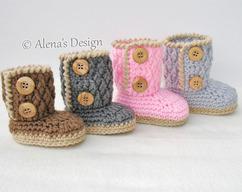7d45caa53b3e6 Women's Slippers Amy Crochet Pattern 074 by AlenasDesign on Zibbet