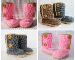 13a7eca6f58 Crochet Pattern 107 - Booties Crochet Pattern - Crochet Booties Pattern for  Two-Button Toddler Booties Crochet Boot Pattern Slipper Pattern