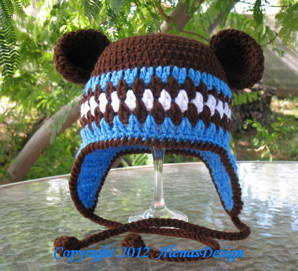 Crochet Pattern 053 Crochet Hat Pattern By Alenasdesign On Zibbet