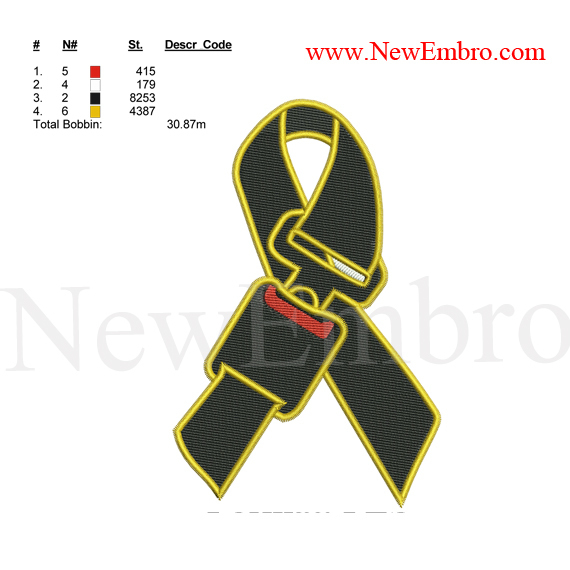 Custom embroidery design,Seatbelt Safety Ribbon embroidery design,Custom