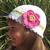 Free Crochet Pattern 081 Crochet White Hat with with Detachable Flower Crochet