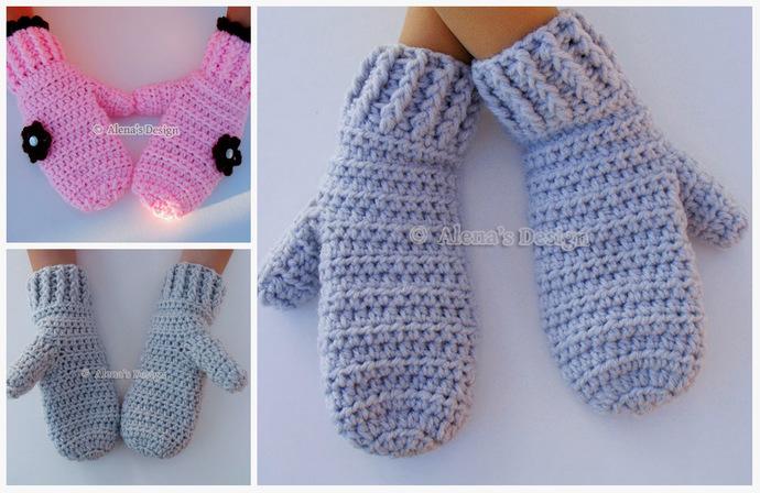 Crochet Pattern 116 Crochet Mitten Pattern By Alenasdesign On Zibbet