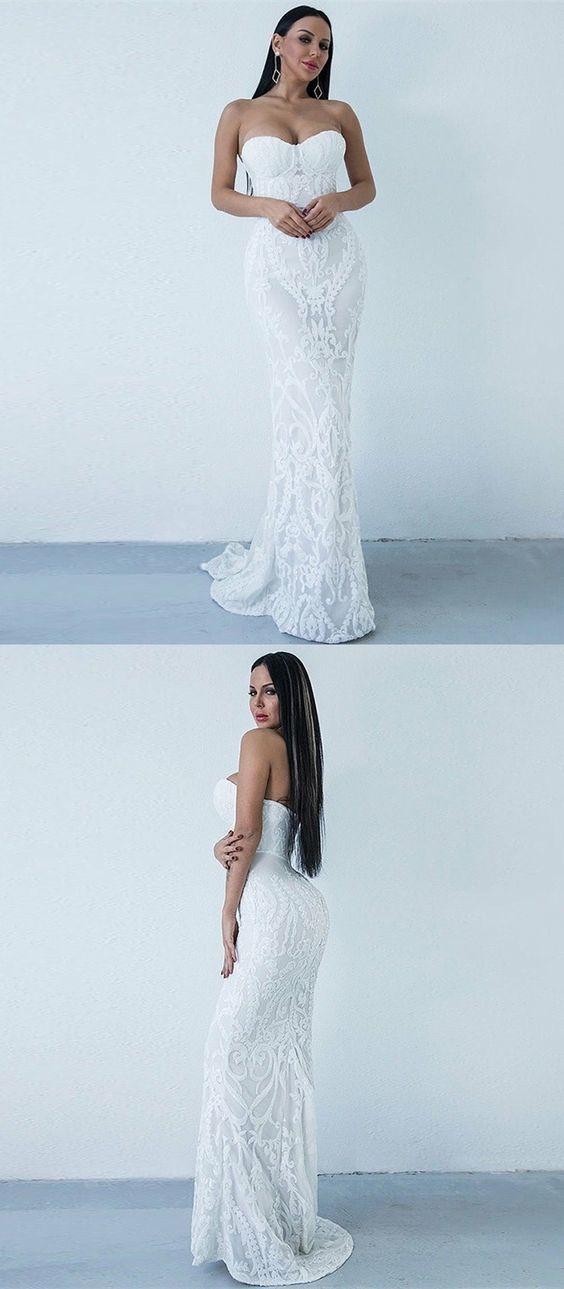 Mermaid Wedding Dress Sweetheart Sweep by Miss Zhu Bridal on Zibbet