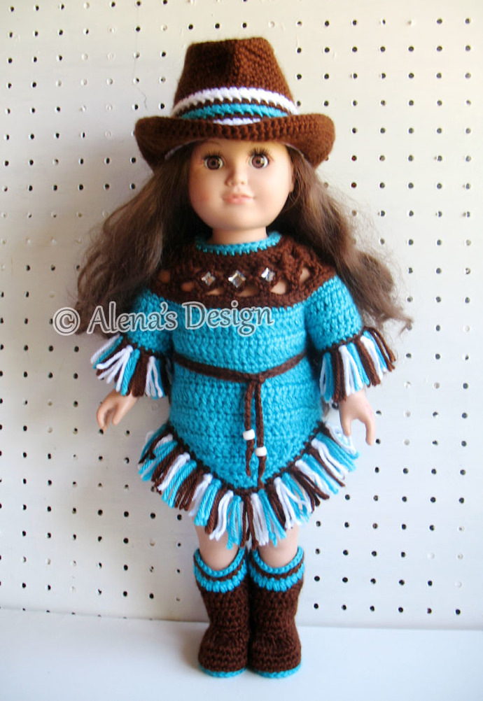 Crochet Pattern Set 18 in Doll Clothes Crochet Patterns American Doll Western