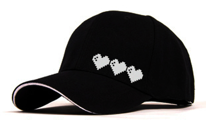 8 Bit Zelda Hearts Adjustable Baseball Cap