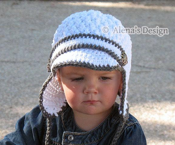Crochet Pattern 130 Baby Visor Hat With Ear Flaps Crochet Hat Pattern Crochet