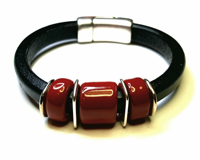 Regaliz Greek Leather Bracelet, Item #2413