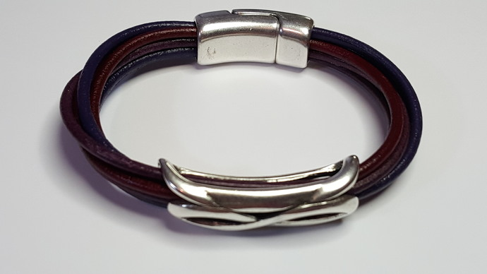 Euro Italian Leather Bracelet, Item #2417