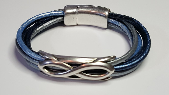 Euro Italian Leather Bracelet, Item #2418