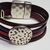 Euro Italian Leather Bracelet, Item #2419