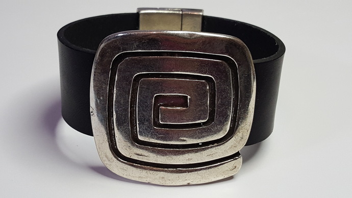 Euro Italian Leather Bracelet, Item #2420