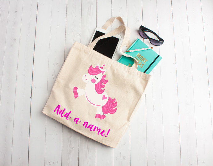 Flying unicorn, unicorn tote bag, personalized kids party favors, Personalized