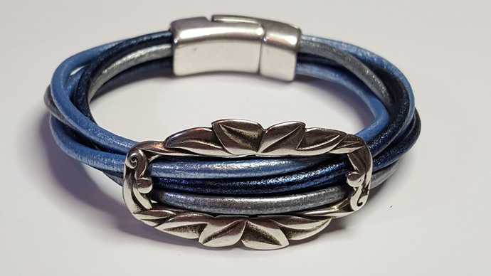 Euro Italian Leather Bracelet, Item #2423