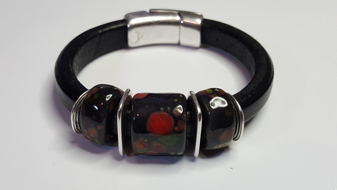 Regaliz Greek Leather Bracelet, Item #2425