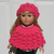 Knitting Pattern 2 PC Set for 18 inch Doll Knitting Patterns Lace Slouchy Beanie