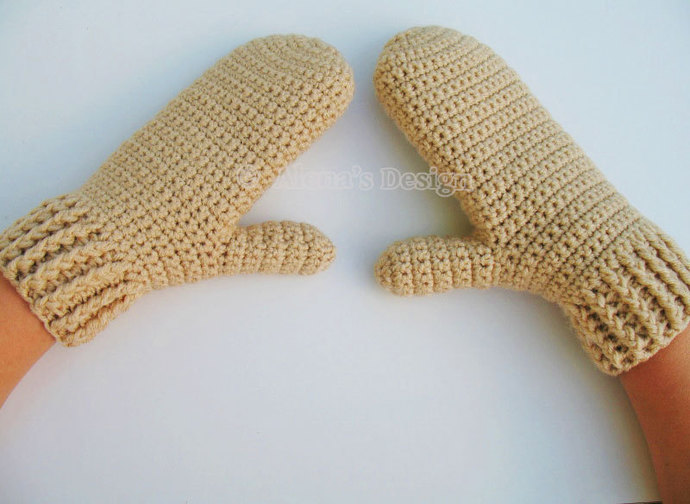 Crochet Pattern 105 Crochet Mitten Pattern By Alenasdesign On Zibbet