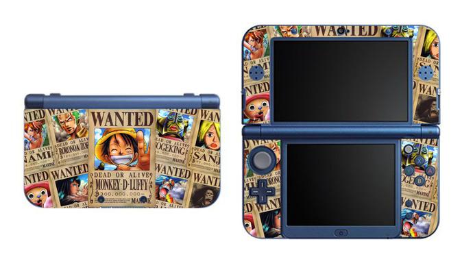 One Piece NEW Nintendo 3DS XL LL, 3DS, 3DS XL Vinyl Sticker / Skin Decal