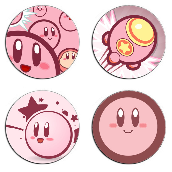 Kirby One Set wooden Drink Coasters