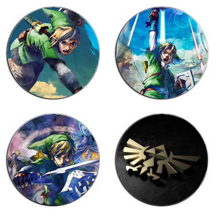 Legend of Zelda One Set wooden Drink Coasters