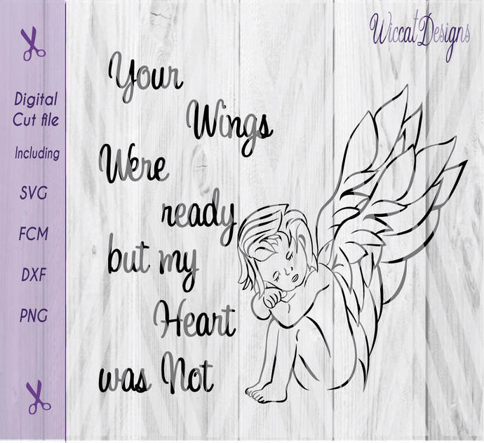 Angel svg, wings svg, rainbow baby svg, baby angel svg, keepsake svg, memorial