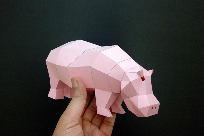 Origami Hippopotami - Page 1 of 2 | Gilad's Origami Page | 459x690